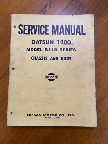 Datsun 1200 B110 Service Manual Chassis and Body Used