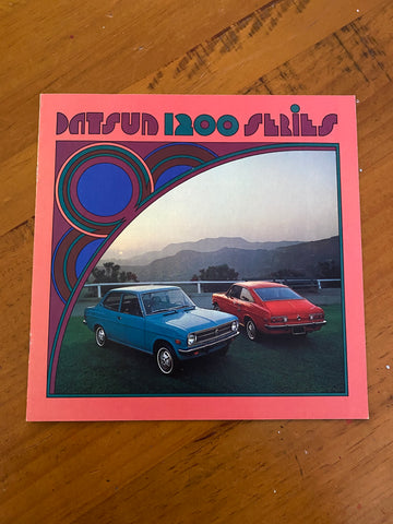 Datsun 1200 Advertising Booklet Folder Used