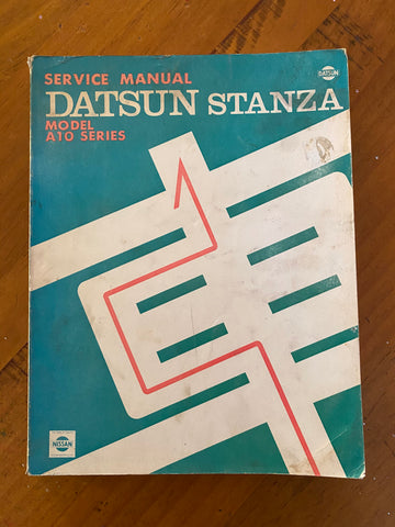 Datsun Stanza A10 Service Manual Genuine Used