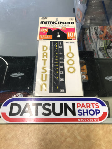 Datsun 1000 Speedo Metric conversion decal