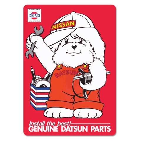 Datsun Dog Sticker Large
