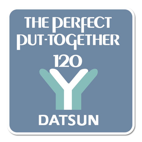 Datsun 120Y Retro Sticker New All Weather