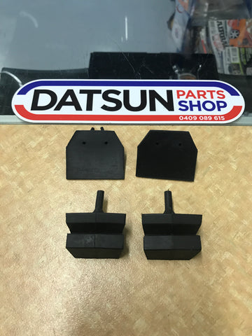 Datsun 1200 bonnet bump rubber set Genuine
