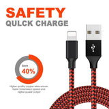 2.4A Fast Charger USB Cable for iPhone X XS Max XR 8 7 For IOS Data Transfer Sync For Lightning Plug Charging