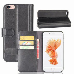 Real Genuine Flip Wallet Leather Case for iPhone 6s iPhone 6