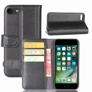 Real Genuine Flip Wallet Leather Case for iPhone 8 iPhone7
