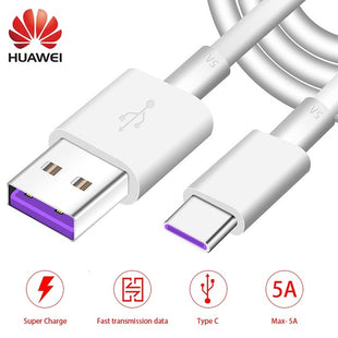 Huawei USB 5A Type C Cable P20 Pro lite Mate20 10 Pro P10 Plus lite V10 USB 3.1 Type-C Original Supercharge Super Charger Cable