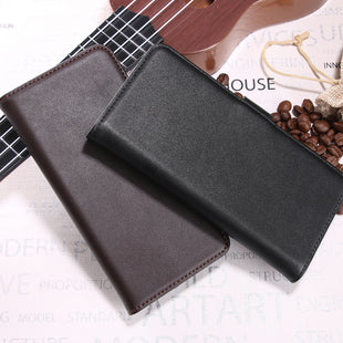 Real Genuine Flip Wallet Leather Case for iPhone XR