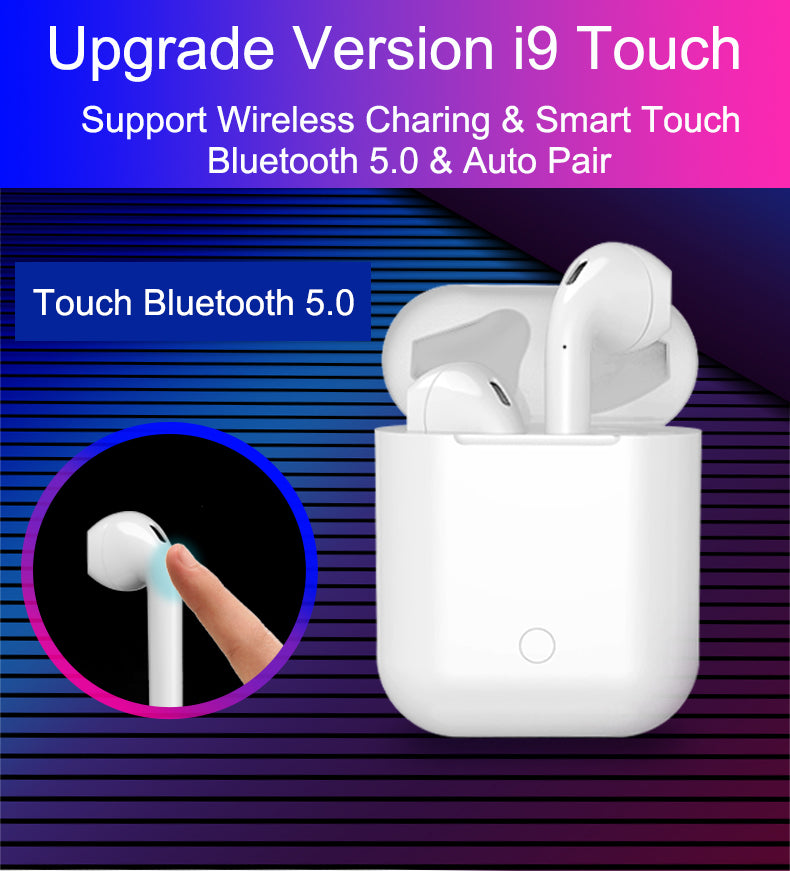Upgraded i9 Touch TWS Earphone Earbuds Bluetooth 5.0