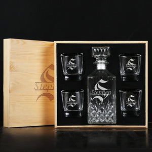 Personalized decanter unique groomsmen gifts - CustomizationMart