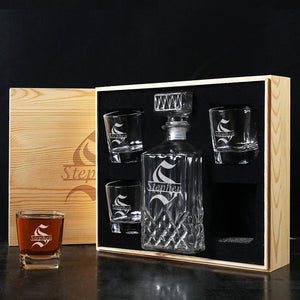Groomsmen Gift set, personalized whiskey decanter - CustomizationMart