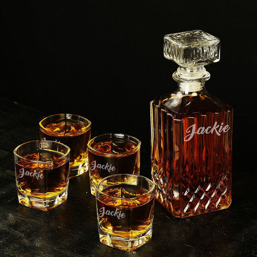 Personalized Groomsman gift Set, customized gift decanter - CustomizationMart