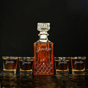 Groomsmen Gifts, Unique Groomsmen Gifts Customized Decanter Set - CustomizationMart