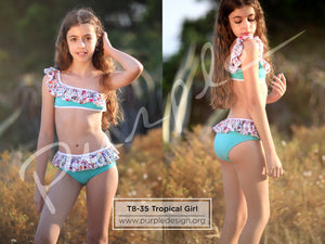 T8-35  Tropical Girl - www.purpledesign.org