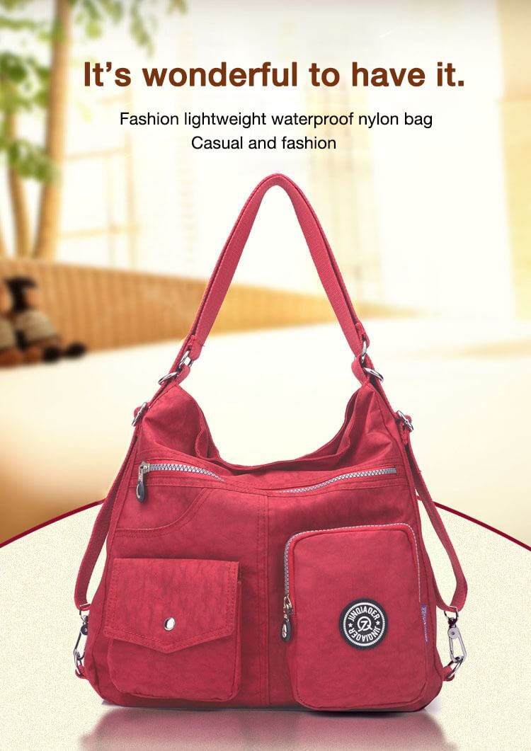 Fashion Casual Nylon Backpack Messenger Bag Shoulder Bag-1