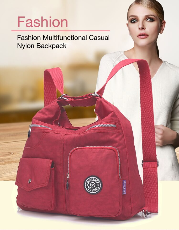 Fashion Casual Nylon Backpack Messenger Bag Shoulder Bag-3