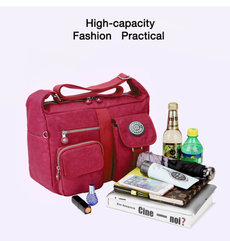 Fashion Casual Nylon Backpack Messenger Bag Shoulder Bag-5