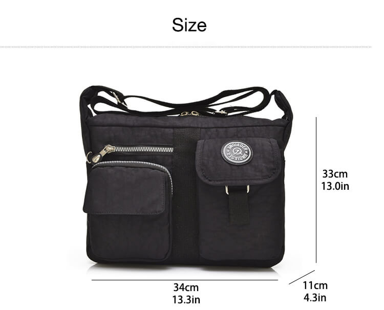 Fashion Casual Nylon Backpack Messenger Bag Shoulder Bag-6
