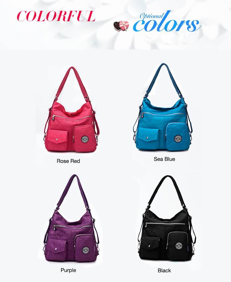 Fashion Casual Nylon Backpack Messenger Bag Shoulder Bag-7