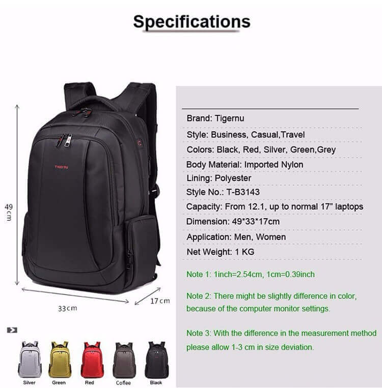 Anti-theft Water-proof Backpack Casual Backpack---