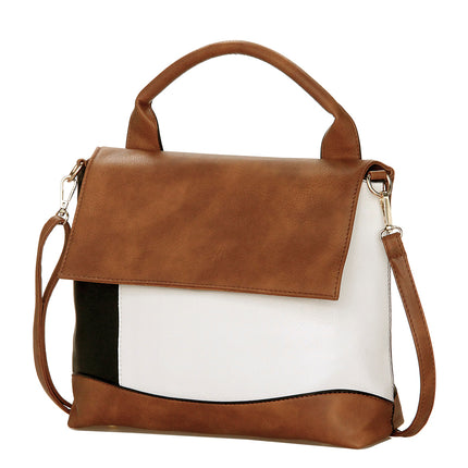 Fashion Patchwork PU Leather Handbags Luxury Women Shoulder Bag