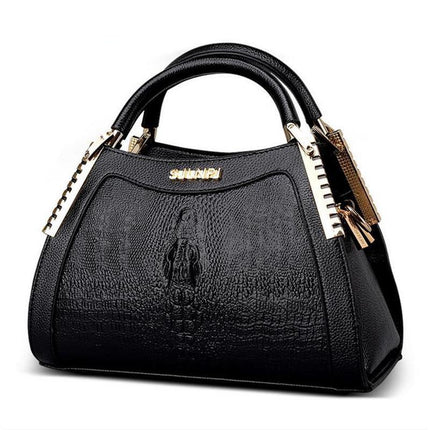 Fashion Alligator PU leather handbags Women Messenger Bag Crocodile head Crossbody Bag