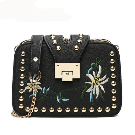 Fashion Chain Women Bag Designer Handbags High Quality Floral Crossbody Bags For Women Flap Messenger Bags
