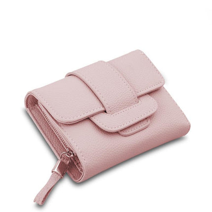 Luxury Soft PU Leather Women Hasp Wallet Tri-Folds Clutch Coin Purse Card Holders
