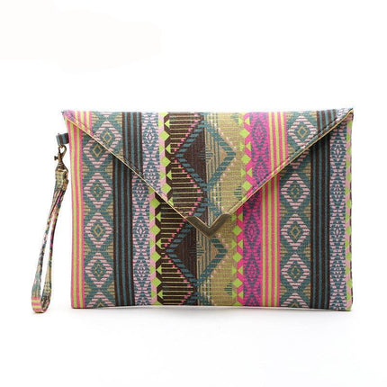 canvas day clutches fashion women messenger bags striped handbags vintage evenlope clutch bag