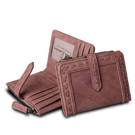 Women Vintage PU Leather Short Wallet Fashion Change Clasp Purse Money Coin Card Holders wallets