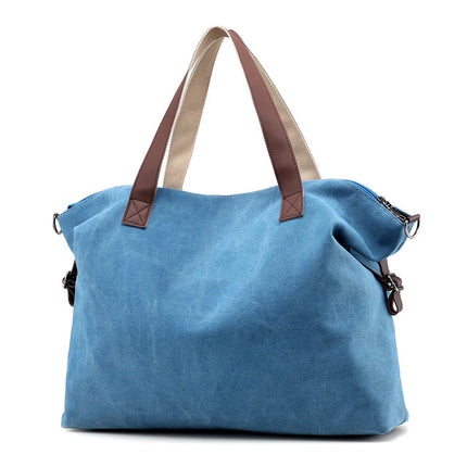 Vintage Women Canvas Handbags Large Capacity Casual Tote Shoulder Bag Messenger Bags