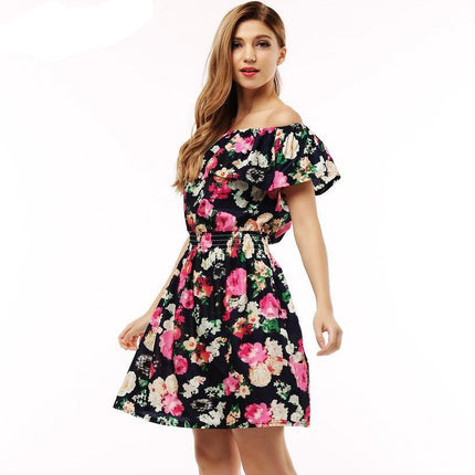 fashion new dress women clothing floral print pattern casual dresses vestidos