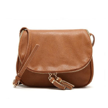 Women Fashion Tassel Messenger Bags Leather Crossbody Shoulder Bags