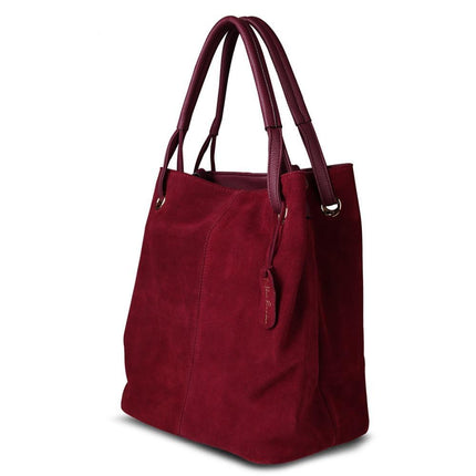 Women Split Suede PU Leather Tote Bag Leisure Large Top-handle Bags Crossbody Shoulder Handbag