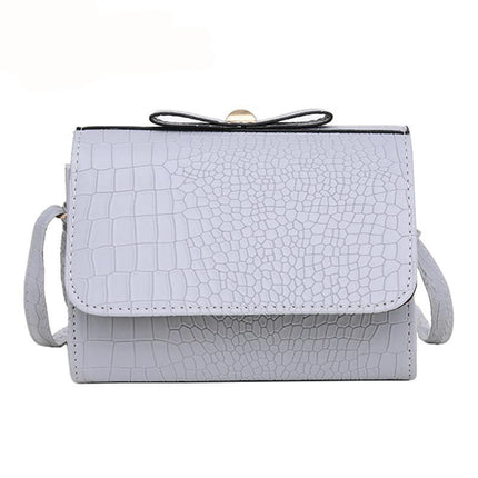 Fashion Women Messenger Bags Mini alligator Handbag bow shoulder bags Flap Hand Crossbody Bag