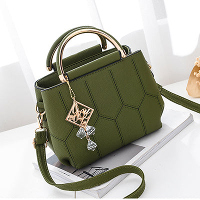 Women Handbags PU Leather Crossbody Bags For Luxury Beading Bag Messenger Plaid Bag