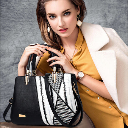 Fashion Serpentine Woman Shoulder Bags Women Luxury PU Leather Handbags