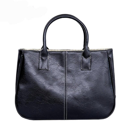 fashion composite women's Simple elegant PU leather handbag