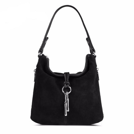 Women Split PU Leather Shoulder Bag Suede Casual Crossbody handbag Handbag