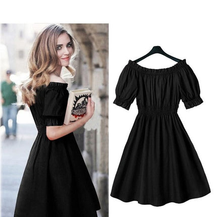 100% cotton  Women Dress short Sleeve Casual beach Dresses Vestidos