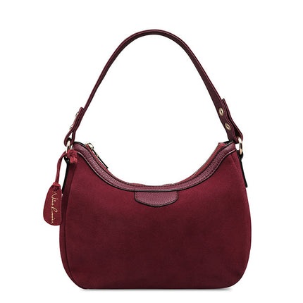 Women Suede PU Leather Shoulder Bag Leisure Cossbody Hobo Handbag Top-handle Bags