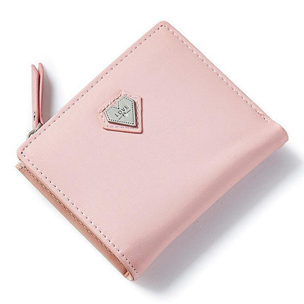 Love Heart Short Wallet Purse Lovely Mini Women Wallet For Card Coin Photo