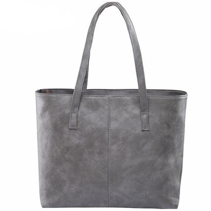 fashion women handbag brief shoulder bags gray /black large capacity luxury handbags tote bags