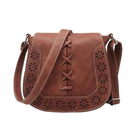 High Quality Women 's Handbag hollow out Crossbody Bags Women Leather Handbags Shoulder Small bag