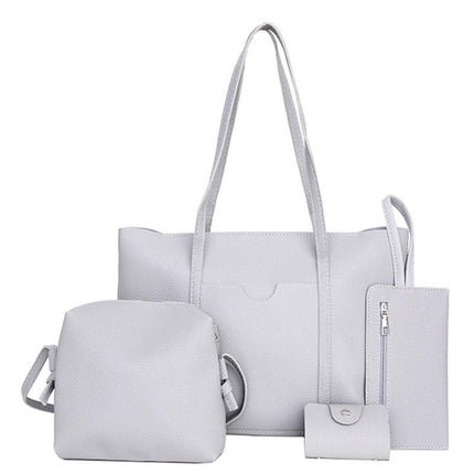Women Handbags Sets PU Leather Shoulder Bags Purse Crossbody Messenger Bags Tote Bags