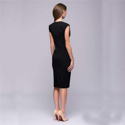 Fashion Women Summer Style Sexy V Collar Self Cultivation Dresses Spring Vintage Elegant Club Christmas Party Dress