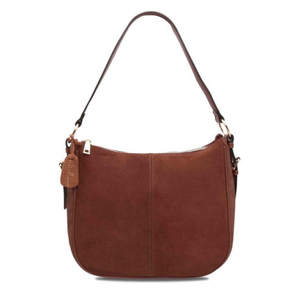 Women Split Suede PU Leather Shoulder Bag Casual Crossbody Handbag Messenger Hobo Top-handle Bags