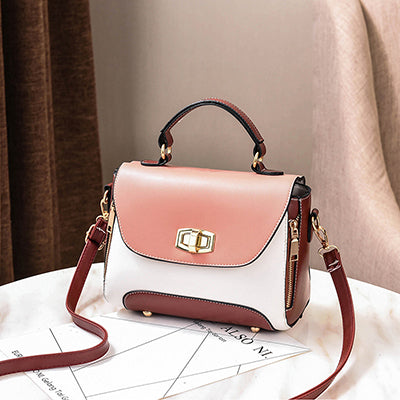 Panelled Luxury Handbags Women Fashion PU Flap Crossbody Bags Rivet Tote Bag