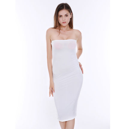 Sexy strapless women summer white black midi dress 2018 new fashion brief slim club bodycon bandage party dresses