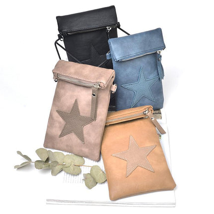 Women PU Leather Handbags Casual Crossbody Soft Flap Bags Zipper Anti-theft Bag